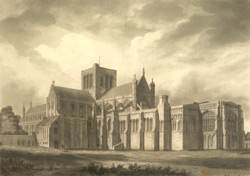 South East View of the Cathedral Church of Winchester